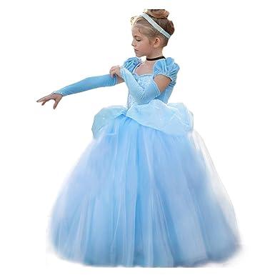9b2f515d8f9e Amazon.com: Cinderella Dress Princess Costume Halloween Party Dress up:  Clothing