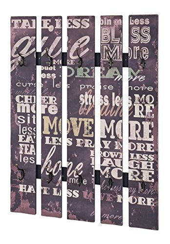 Perchero de pared vintage en con letras y 10 - Perchero ...