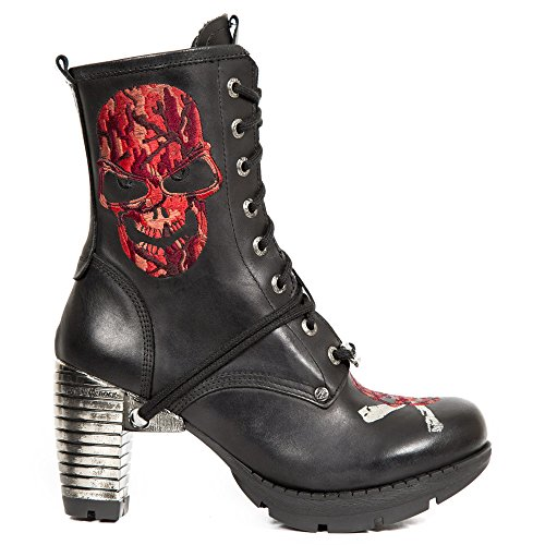 New Rock Women's Black Leather Boots M.TR079-S2 Black good selling cheap online clearance best sale 100% original for sale for nice online outlet popular qGnu3pe3z