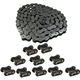 Mumaxun 49cc - 80cc Bicycle Chain 415-110 Links with 10pcs 415 Chain Master Link for Most 2-Stroke Motorized Electric Bike Moped Scooter