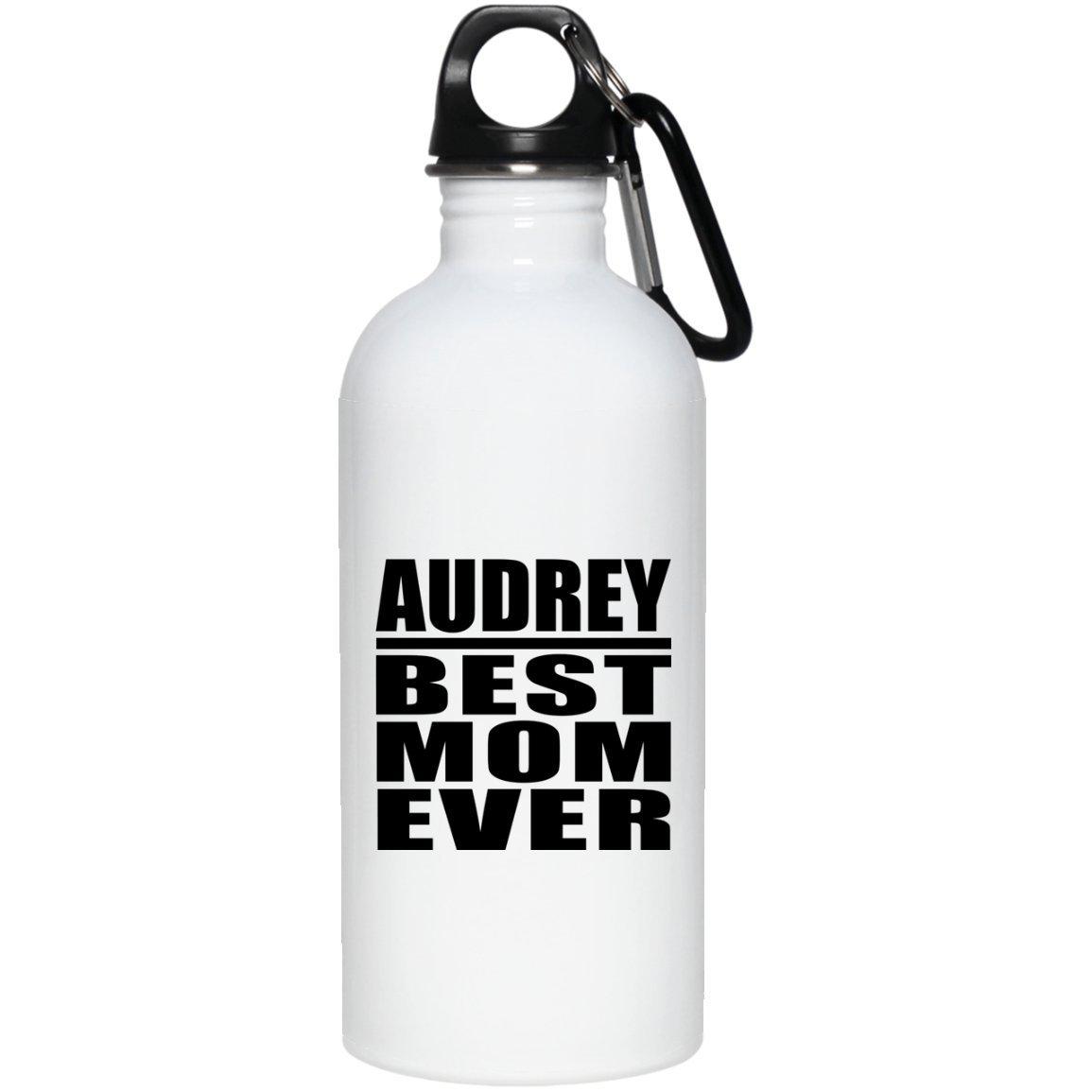 Audrey Best Mom Ever - Water Bottle Borraccia Acciaio Inossidabile Termico - Regalo per Compleanno Anniversario Festa della Mamma del papà Pasqua