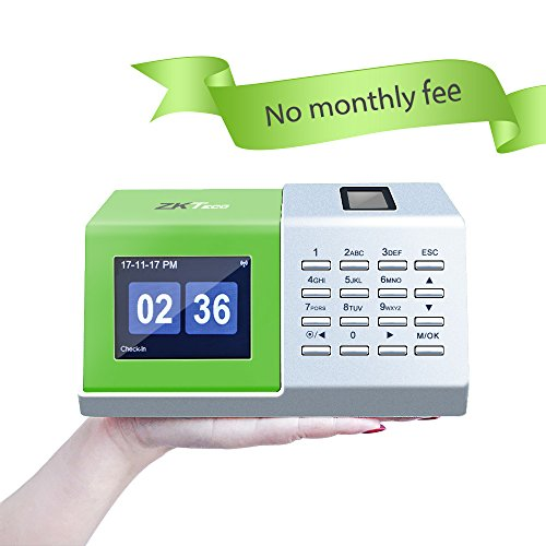ZKTeco CT20 Fingerprint Time Attendance Machine Biometric Time Clock for Employee Small Business Time-Tracking Recorder Without (Payroll Data Time Recorders)