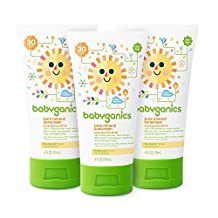 Babyganics Pure Mineral-Based Baby Sunscreen Lotion, SPF 30, 4oz Tube (Pack of 3)