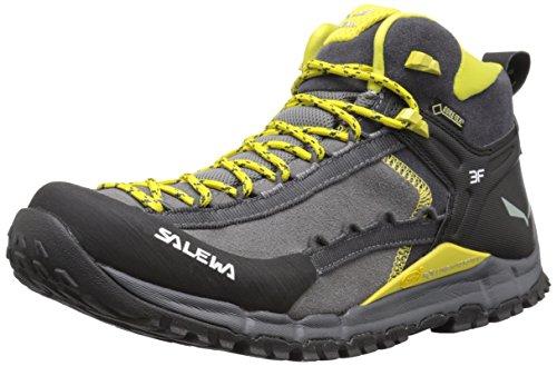 SALEWA Ms Hike Roller Mid Gtx, Zapatillas de Deporte Exterior para Hombre Gris  / Amarillo   (Pewter / Kamille 4058)