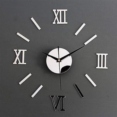 Métal Horloge Numéros Noir Roman 16 mm haute