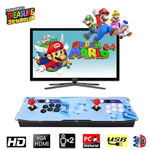 Pandora Treasure 3D Retro Arcade Game Console Machine | Includes 2260 HD Games | Full HD (1920x1080) | 2 Player Game Controls | Add More Games | Support 4 Players | HDMI/VGA/USB/AUX Audio Output by HAAMIIQII (Image #6)