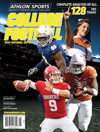 2014 Texas Longhorns Football - Athlon Sports 2014 College Football National Preview Magazine- Oklahoma Sooners/Texas Longhorns/Notre Dame Fighting Irish Cover