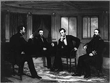 Peacemakers 1865 Sherman Grant Lincoln Porter Civil War painting by Healy 1868