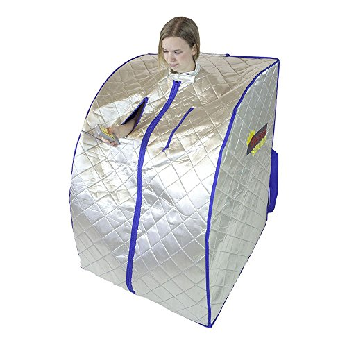 FIR-Real Far Infrared Portable Sauna w/ Carbon Wall Panels & Footpad (Large Size)