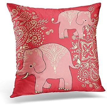 Amazon Com Emvency Throw Pillow Cover Cute Peach Sweet