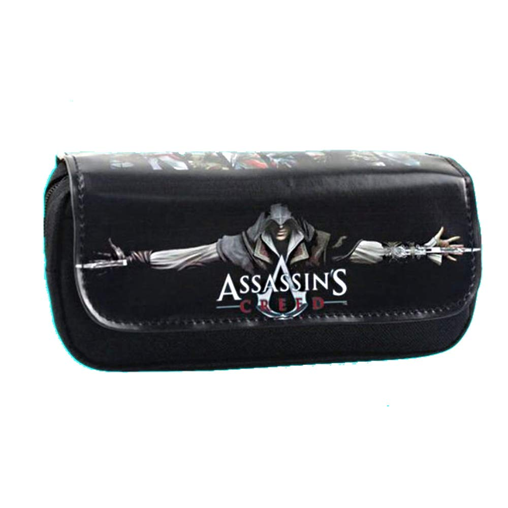 Assassins Creed Macchia Trousse Double c/ôt/é /école et Rangement Trousse