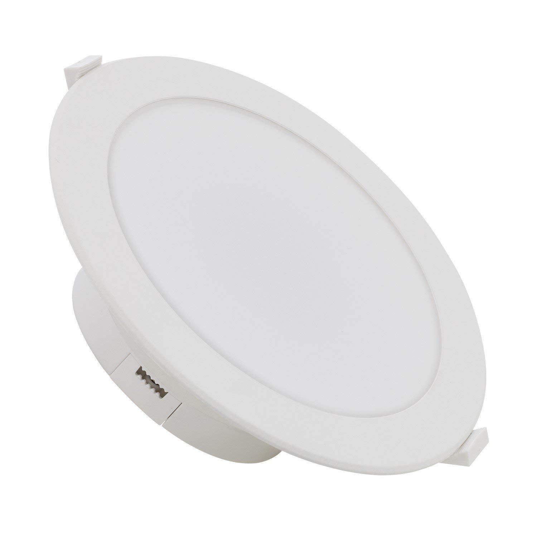 Downlight LED Circular Especial Ba/ños 20W IP44 Blanco Fr/ío 6000K efectoLED