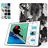 """TNP New iPad 2017 iPad 9.7 inch Case - Lightweight Smart Case Trifold Slim Shell Stand Cover with Auto Sleep Wake Function Feature for Apple iPad 9.7"""" 2017 Release Tablet (Camouflage Black)"""