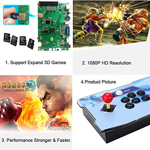 Pandora Treasure 3D Retro Arcade Game Console Machine | Includes 2260 HD Games | Full HD (1920x1080) | 2 Player Game Controls | Add More Games | Support 4 Players | HDMI/VGA/USB/AUX Audio Output by HAAMIIQII (Image #4)
