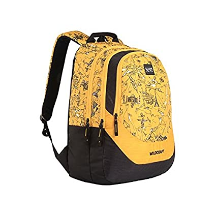 06259a721473 Wildcraft Polyester 36 Ltrs Yellow School Backpack (Wiki 4 Doodle 2)   Amazon.in  Bags