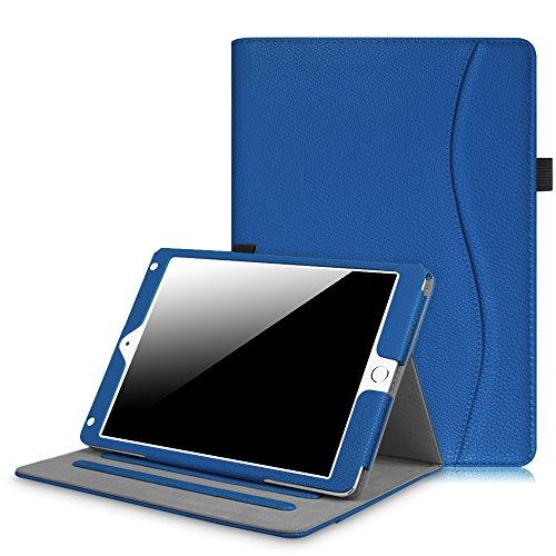 Fintie iPad 9.7 Inch 2017 / iPad Air 2 / iPad Air Case - [Corner Protection] Multi-Angle Viewing Folio Stand Cover w/ Pocket, Auto Wake / Sleep for Apple iPad 2017 Model, iPad Air 1 2, Royal Blue