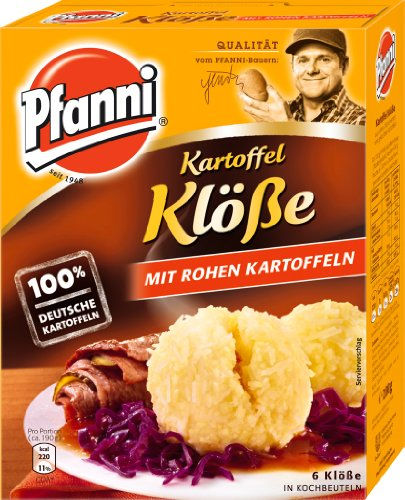 Pfanni Potato Dumplings with Raw Potatoes (Kartoffel Klöße mit Rohen Kartoffeln) 200g