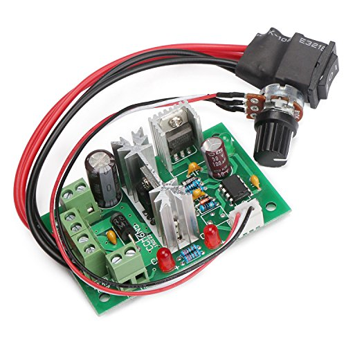 Motor Controller Circuit (DROK DC Motor Control 6-30V Motor Speed Controller Board High power 200W PWM Motor Controller Circuit Module 6V 12V 24V 30V Support PLC Control with Forward Reverse Rotation Switch)