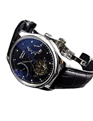 Whatswatch 43mm parnis black dial date power reserve seagull 2505 automatic mens watch PA-003