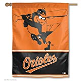 MLB Baltimore Orioles 55689013 Vertical Flag, Small, Black
