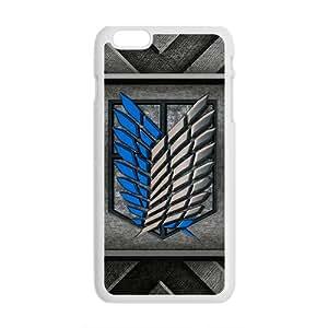 SKULL Attack On Titan Fashion Comstom Plastic case cover For Iphone 6 Plus