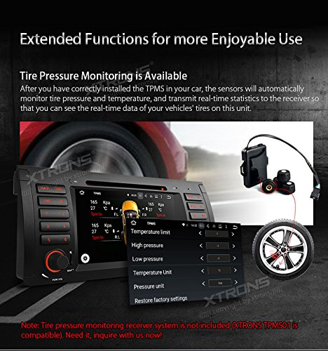 XTRONS Octa-Core 64Bit 2G RAM 32GB ROM 7 Inch Capacitive Touch Screen Car Stereo Radio DVD Player GPS CANbus Screen Mirroring Function OBD2 Tire Pressure Monitoring for BMW E53 X5 by XTRONS (Image #7)