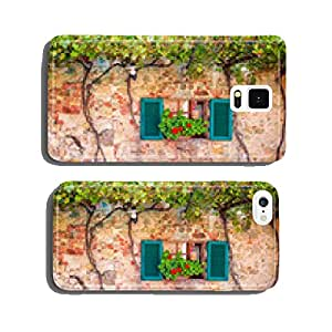 Beautiful porch decorated with flowers in italy cell phone cover case Samsung S5