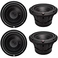 4) ROCKFORD FOSGATE P2D4-8 8 Punch P2 2000W 4-Ohm Car Audio Subwoofers P2D48