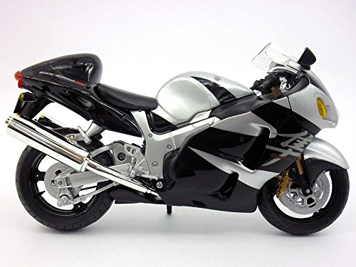 Suzuki GSX 1300 R Silver/Black Motorcycle Model 1/12 by Automaxx ()