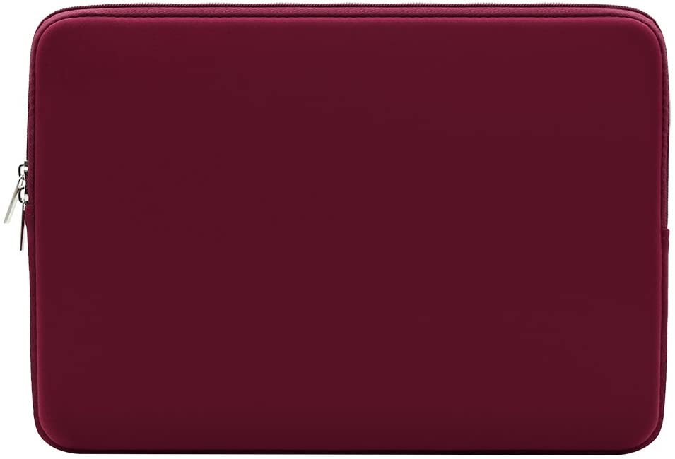 "RAINYEAR 14 Inch Laptop Sleeve Case Protective Soft Padded Zipper Cover Carrying Computer Bag Compatible with 14"" Notebook Chromebook Tablet Ultrabook (Red)"
