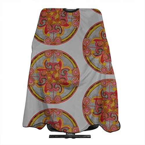 Court Jester Mandalas Haircut Hairdressing Cape Cloth Apron Hair Styling Hairdresser Cape Family Barber Salon ()