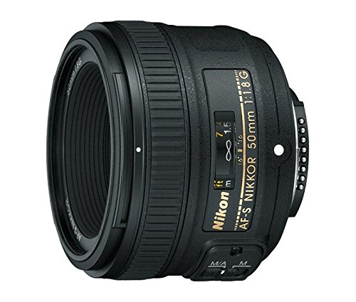 Nikon AF-S FX NIKKOR 50mm f/1.8G Lens with Auto Focus for Nikon DSLR Cameras (Best Wide Angle Lens For D7000)
