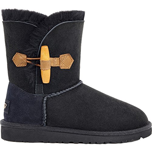 UGG Girls' Ebony-K, Black, 10 M US Toddler by UGG