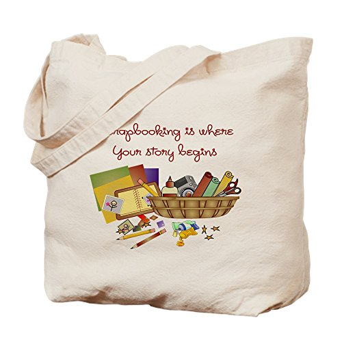 CafePress - Scrapbooking - Natural Canvas Tote Bag, Cloth Shopping Bag