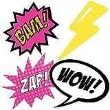 BAM! Girl Superhero - Decorations DIY Baby Shower or Birthday Party Essentials - Set of 20