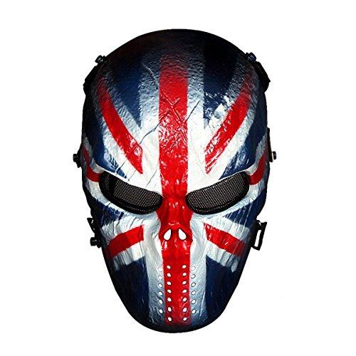 3Skull Skeleton Skull Full Face Protective Airsoft Mask - UK