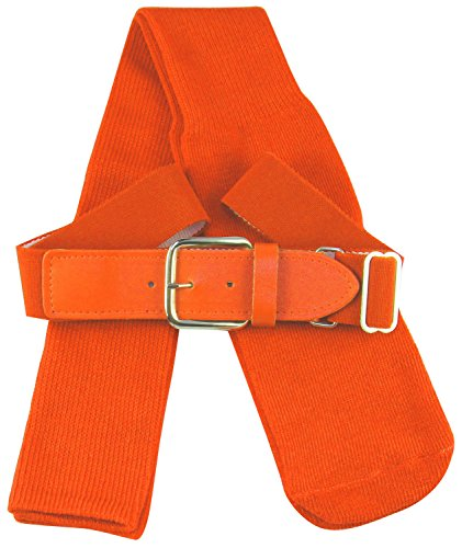 TCK Sports Baseball Belt & Socks Combo Set, Orange, Medium