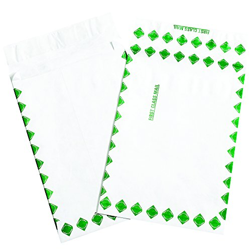 BOX USA BTYE12162FC Tyvek Expandable Envelopes, First Class, 12