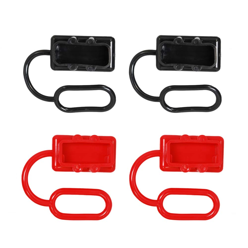 KingBra Rubber Cover 2pcs 350A red Plug Connector Protective End Cap Dust Cover for Anderson Connector Cover for Anderson 350Amp DC Power Connectors