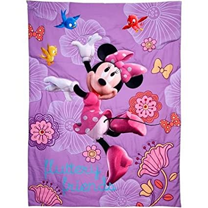 Minnie Mouse Baby Childrens Toddler 4 Piece Bedding Set