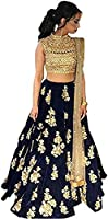 Women's Party Wear New Year Collection Special Sale OffeSalwar Style Bollywood Navy Blue Velvet Heavy Bridal Wedding Lehenga Chaniya Ghagra Choli