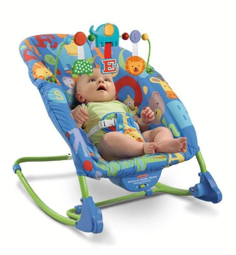 Fisher-Price Deluxe Infant-to-Toddler Rocker, Alpha Fun