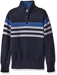 Tommy Hilfiger Big Boys Peter Half Zip Sweater, Swim Navy, Large