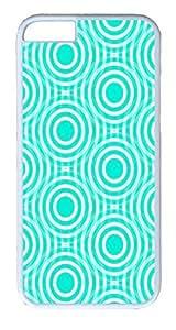 IMARTCASE iPhone 6 Case, Aqua And White Interlocking Concentric Circles iPhone 6 Case TPU White