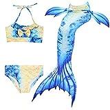 Kakawayi Girl's Mermaid Tail Swimsuit Bathingsuit Sea-maid Bikini£¨no monofin)