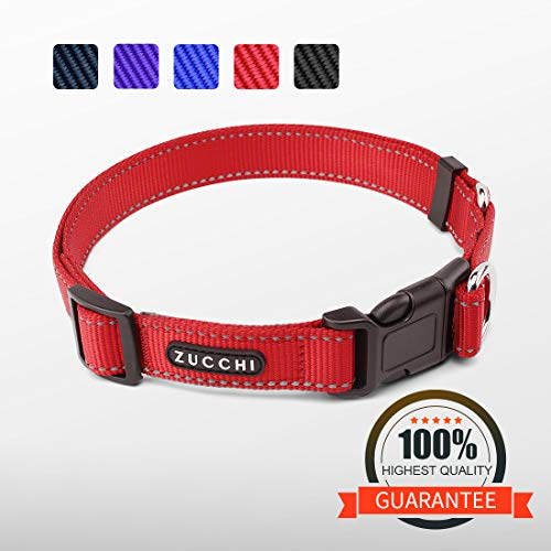 ZUCCHI Large Dog Collar, Reflective and Comfy, Neck 20-29