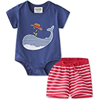 2-Piece Fiream Baby Boys Cotton Summer Sets (several colors)