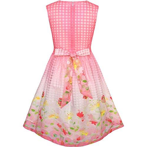 Si Vestono Prendisole Colletto Ragazze 5 Bianco 12 Dimensioni Anni Principessa Rosa Compleanno Floreale d1gTBqxnT