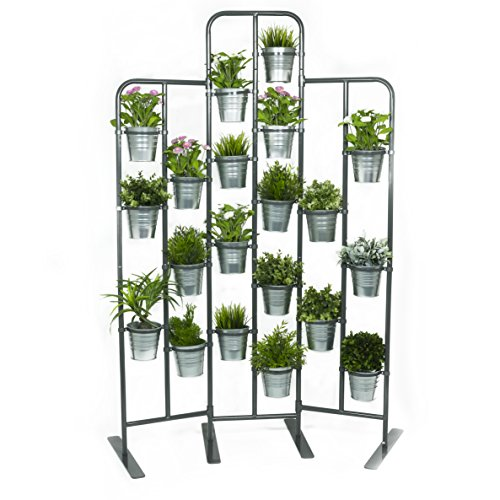Merveilleux Amazon.com : Tall Metal Plant Planter Stand 20 Tiers Display Plants Indoor  Or Outdoors On A Balcony Patio Garden Or Use As A Room Divider Or Vertical  Garden ...