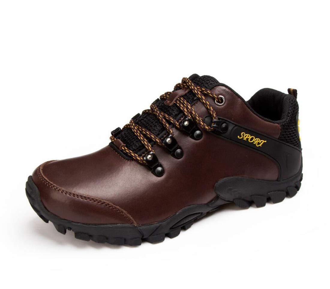 DANDANJIE Männliche Wanderschuhe Herbst im Freien Breathable beiläufige Schuhe Wasserdichte Rutschfeste Turnschuhe